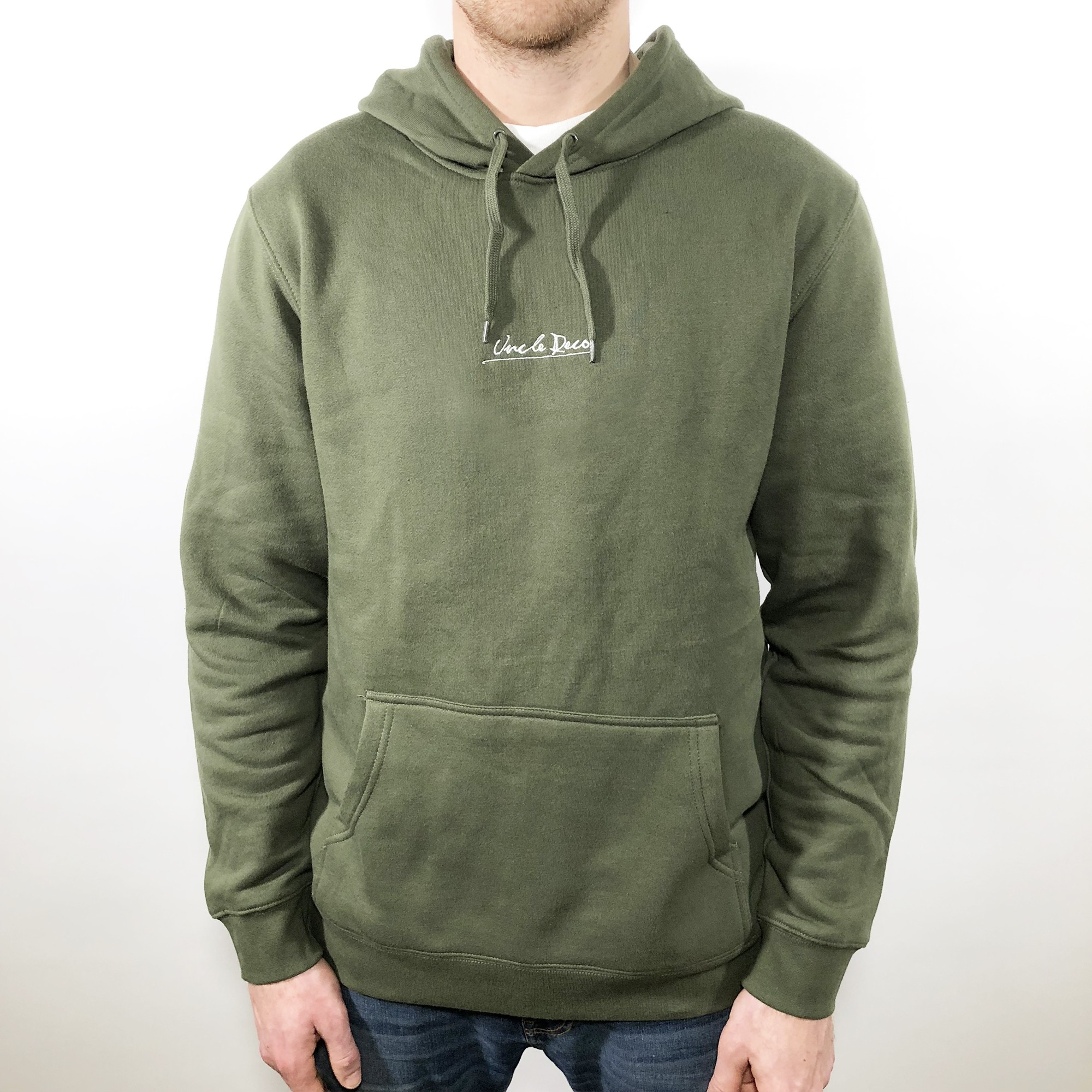 UNCLE RECO EMBROIDERED OLIVE HOODIE