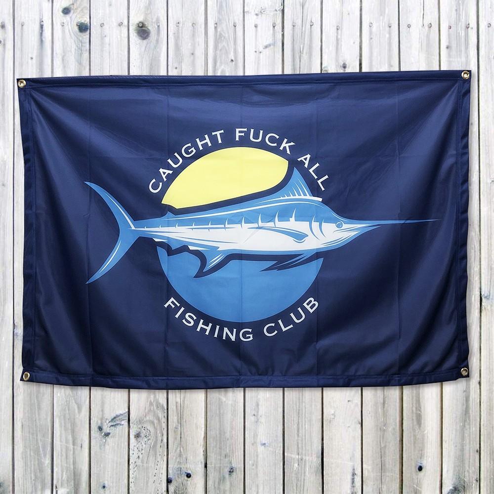 FISHING CLUB FLAG BANNER 1200 X 800MM
