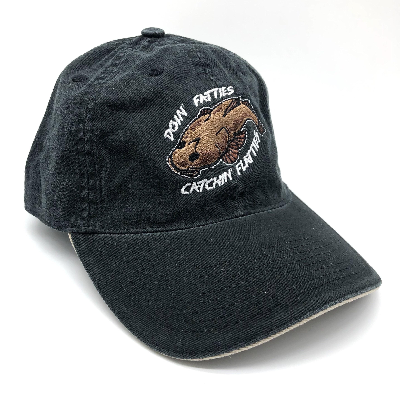 FLATTIES DAD HAT BLACK/TAN