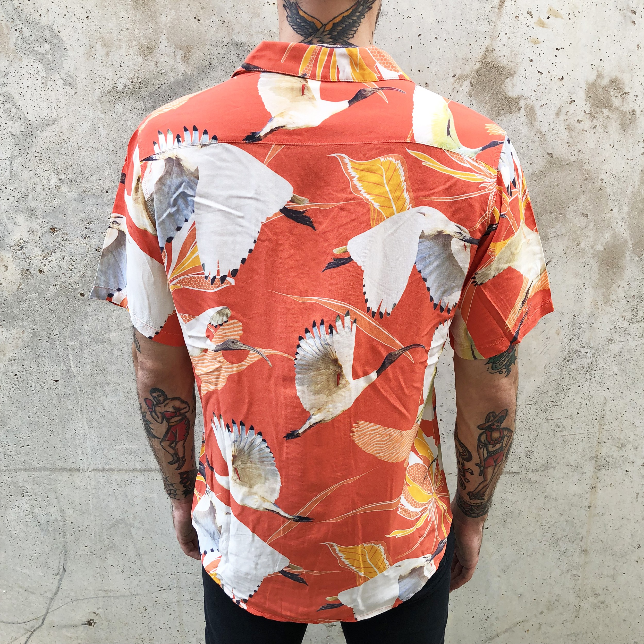 RED IBIS RAYON VACATION SHIRT