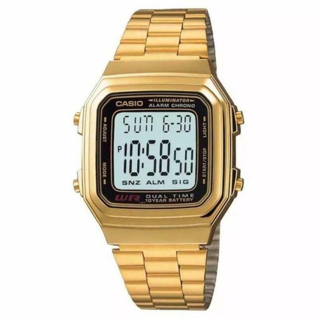 GOLD DIGITAL DUAL TIME ILLUMINATOR GOLD