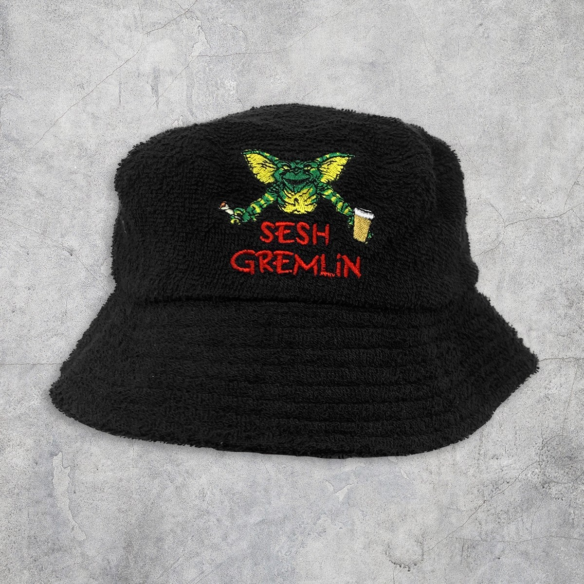 SESH GREMLIN TERRY TOWELLING BUCKET HAT