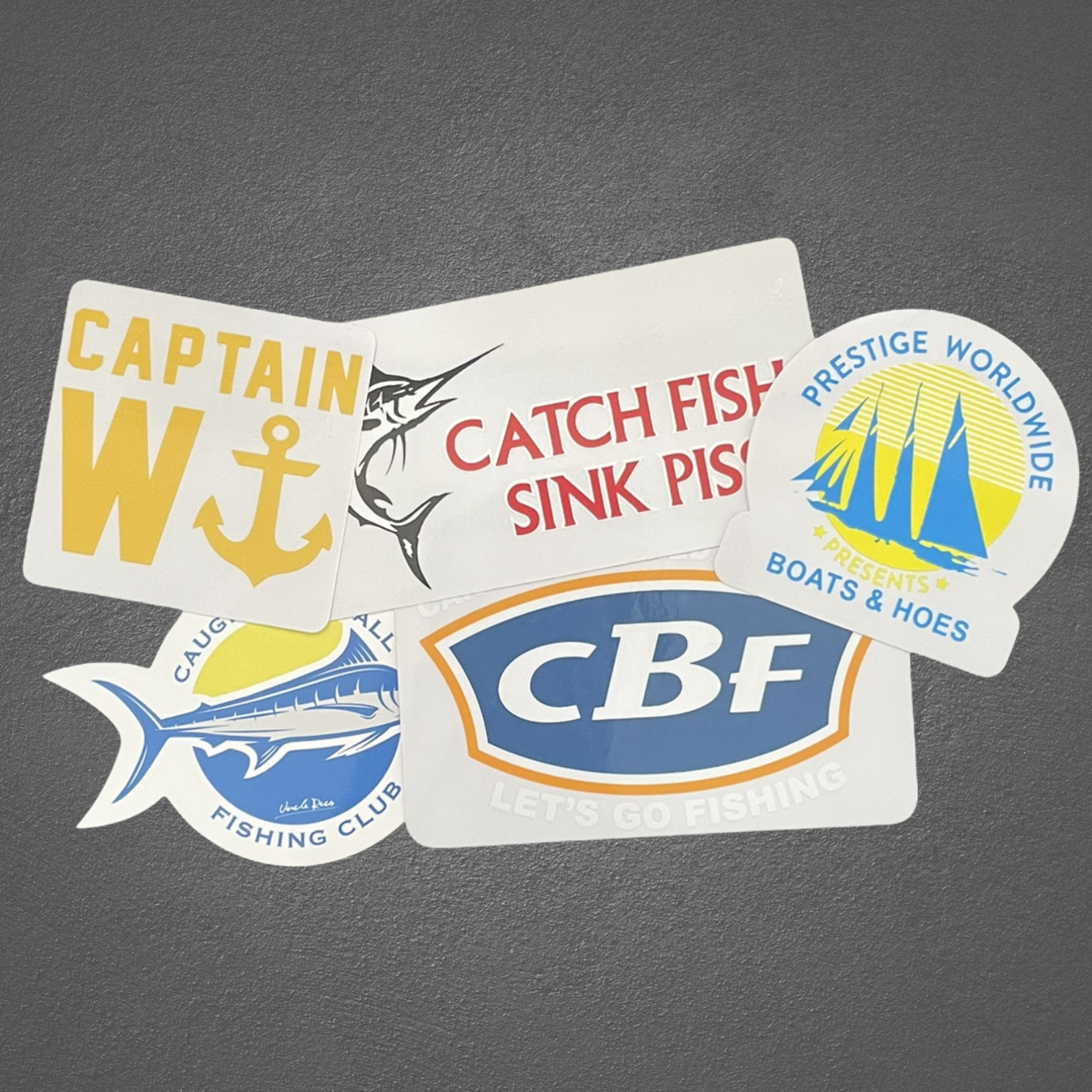 THE BOATING DIE CUT STICKER COMBO