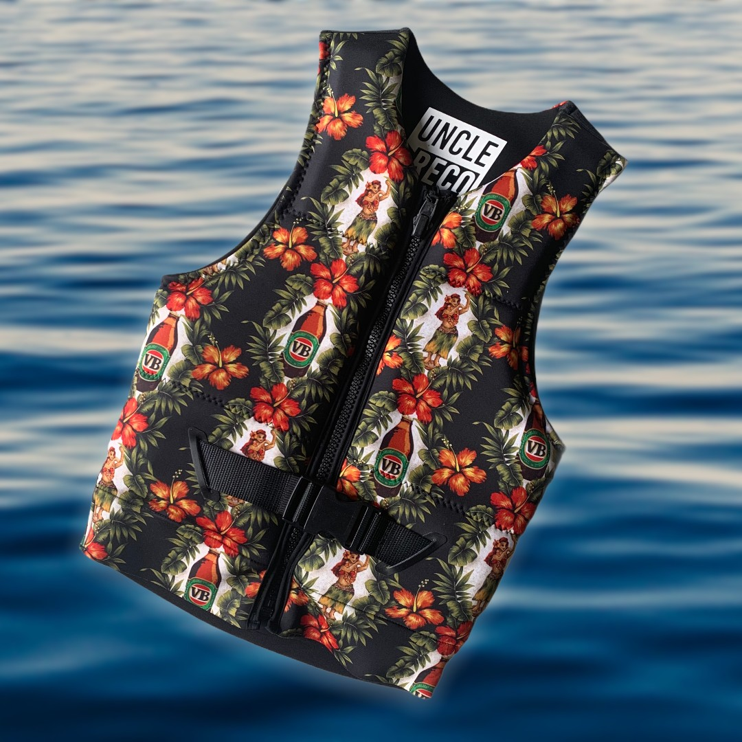 BLACK HULA LIFE VEST LIMITED EDITION + FREE MATCHING STUBBY HOLD