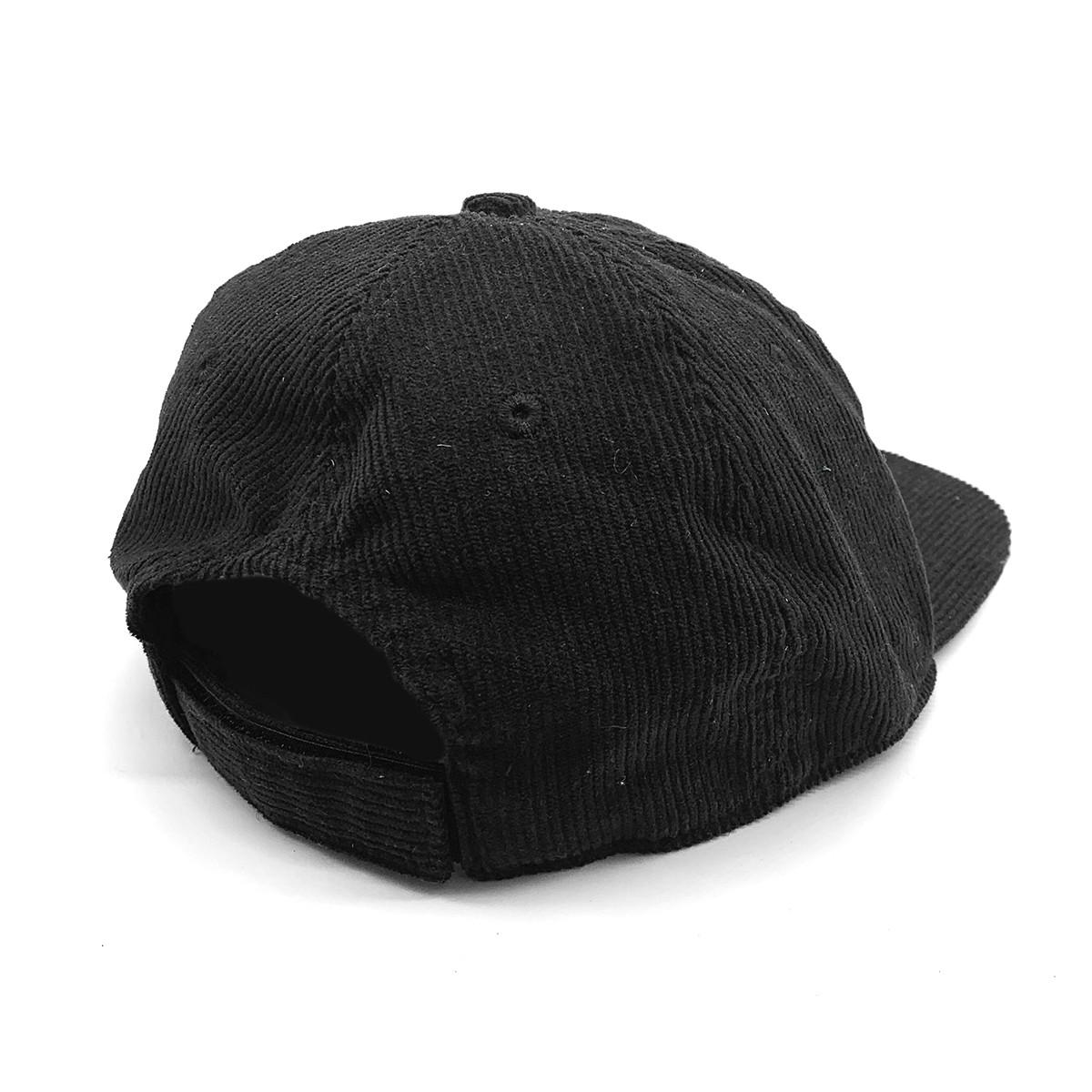WHITE OX VINTAGE CORD HAT IN BLACK