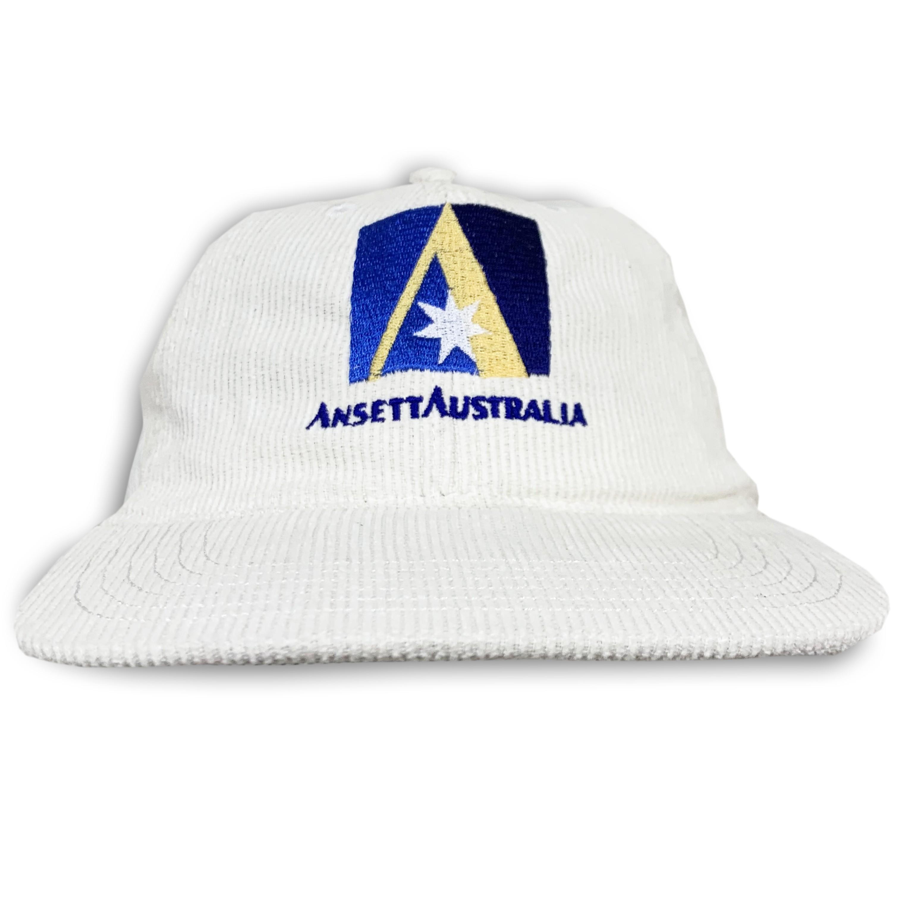 ANSETT VINTAGE WHITE CORD HAT