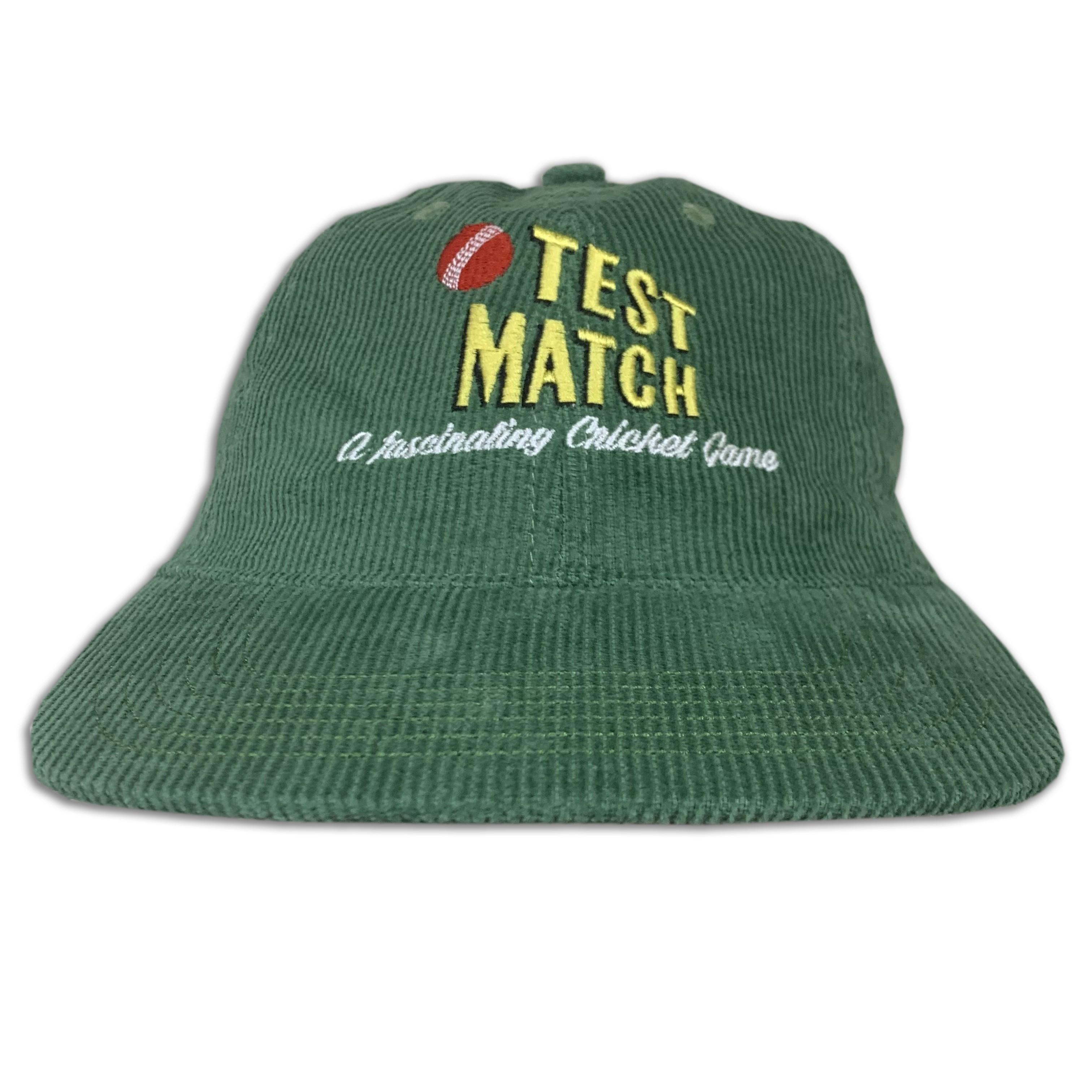GREEN TEST MATCH VINTAGE CORD HAT