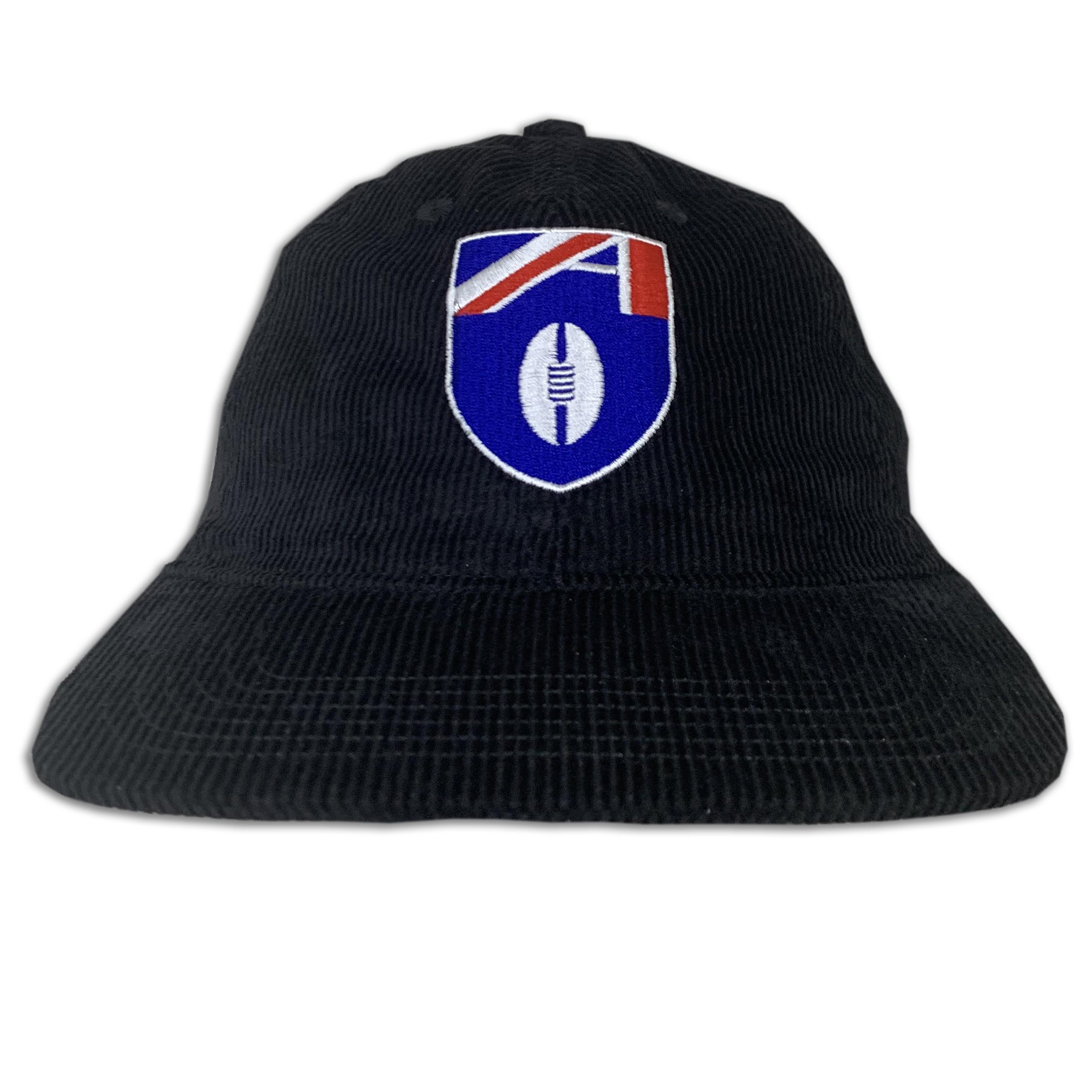 VINTAGE FOOTY BLACK CORD HAT