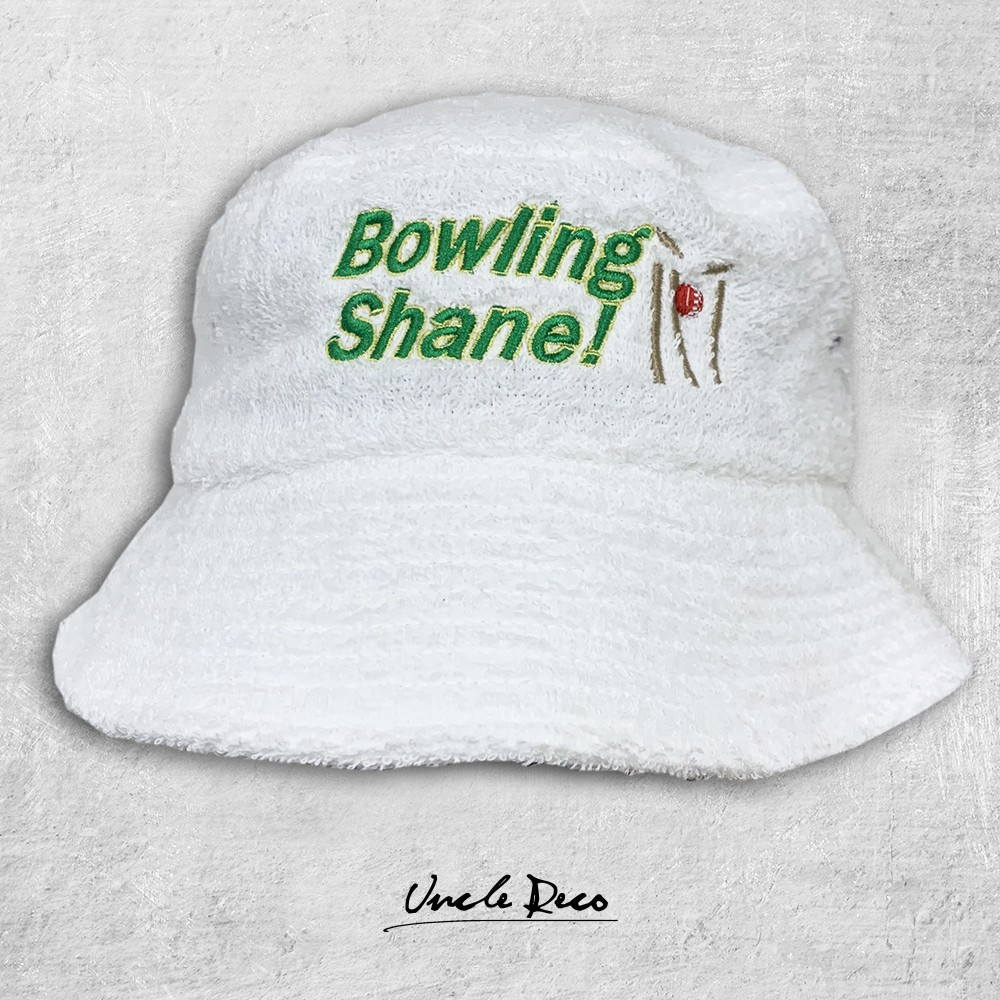 BOWLING WHITE TERRY TOWELLING HAT