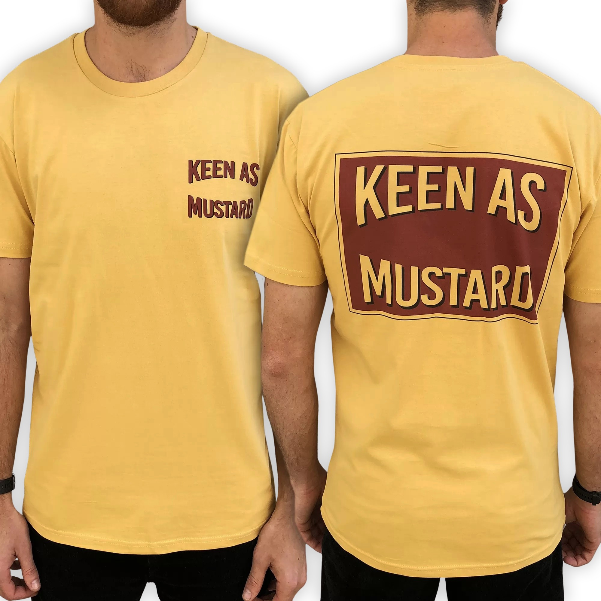 MUSTARD FRONT AND BACK TEE