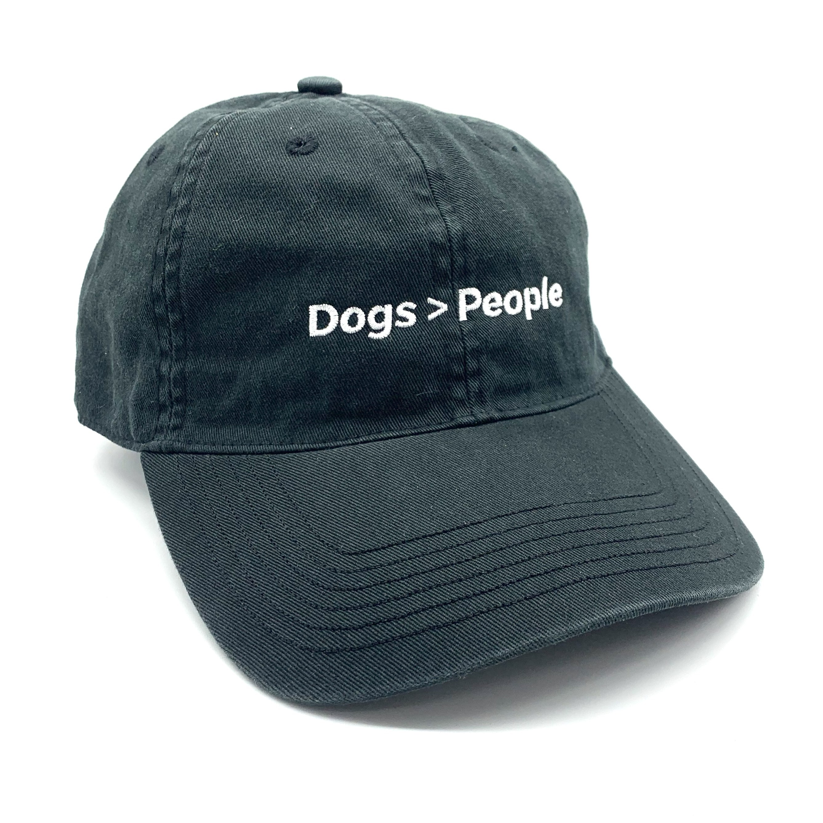 DOGS ARE BETTER BLACK DAD HAT
