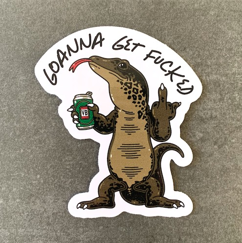 GOANNA DIE CUT STICKER