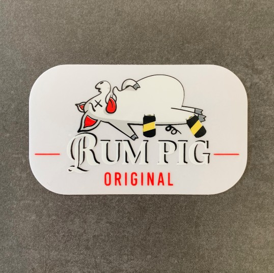 RUM PIG CLEAR DIE CUT STICKER
