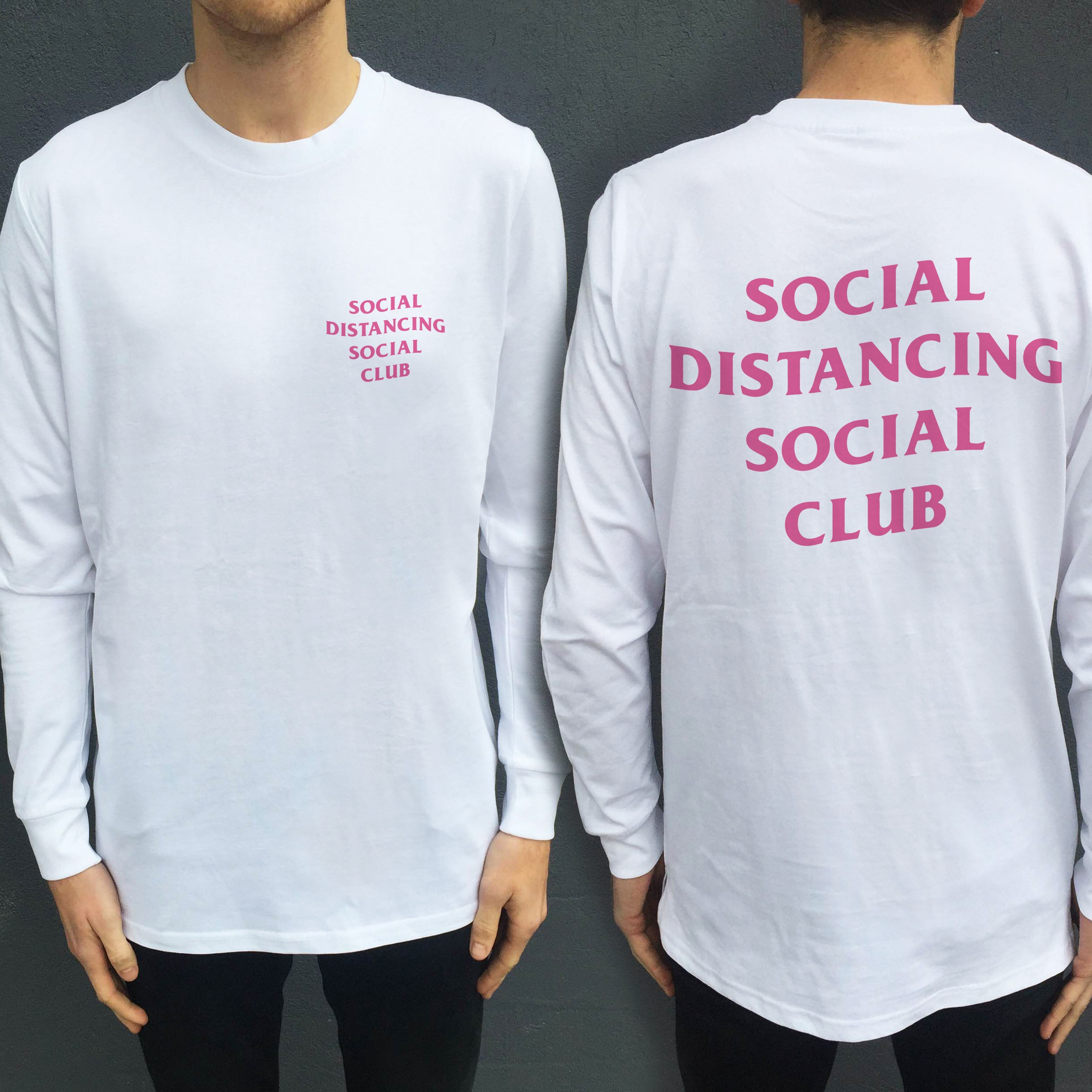 SOCIAL DISTANCING LONGSLEEVE FRONT AND BACK