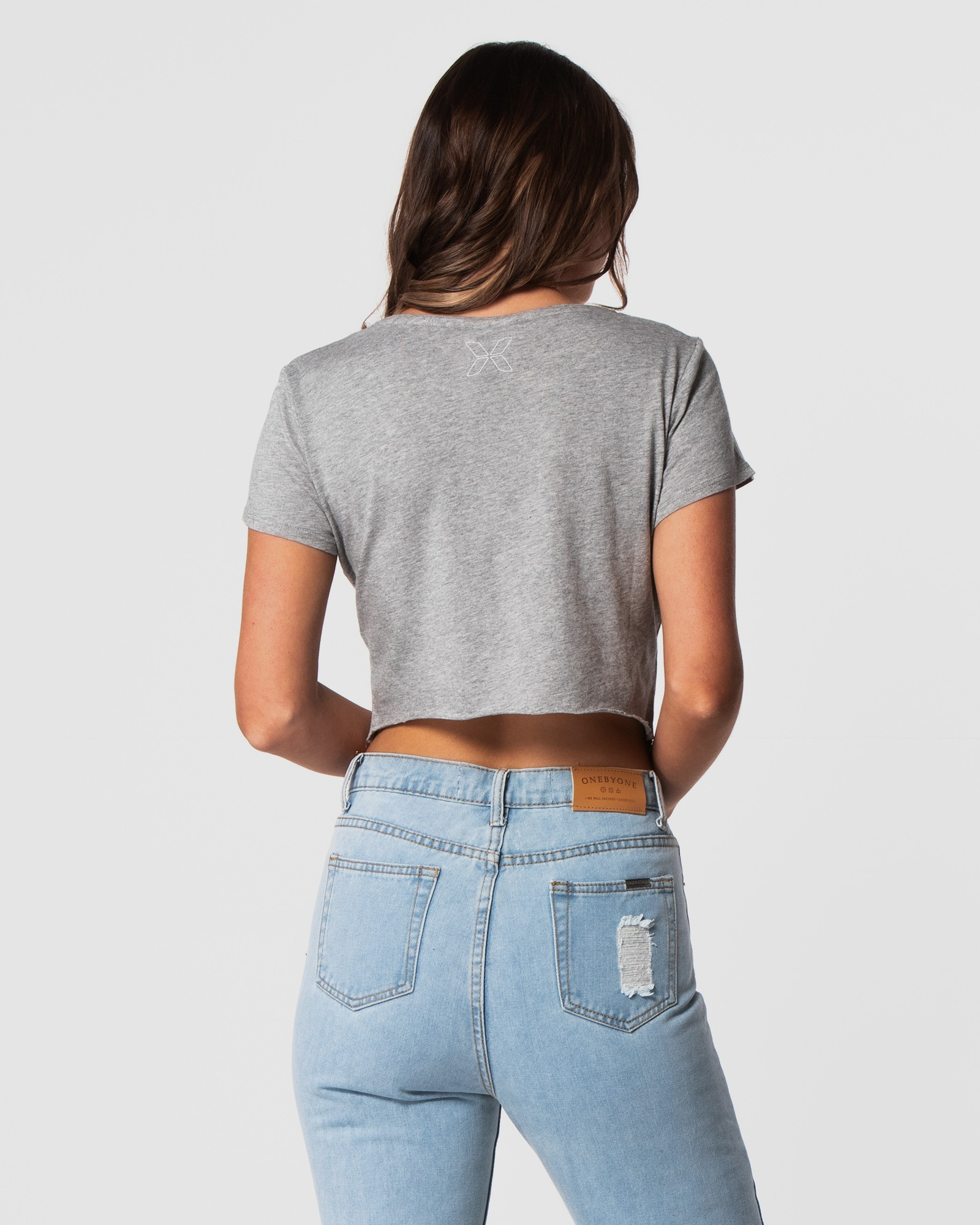 CLASSIC MARBLE GREY CROP