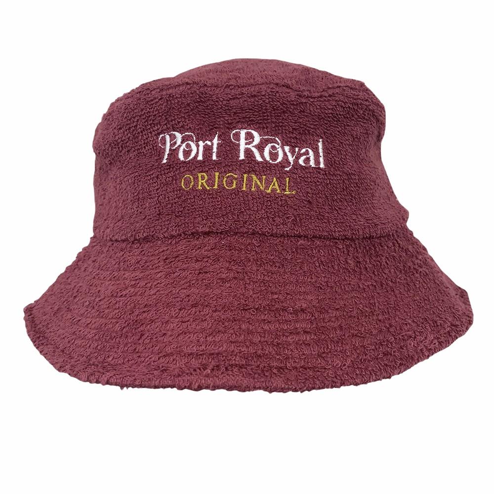 VINTAGE PORT MAROON TERRY TOWELLING BUCKET HAT