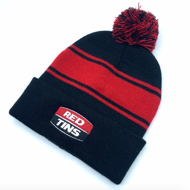RED/BLACK RED TINS BEANIE
