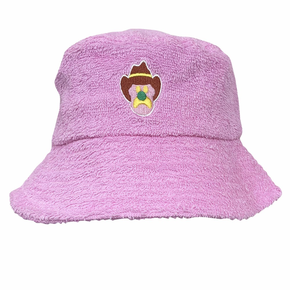 ICE CREAM PINK TERRY TOWEL BUCKET HAT