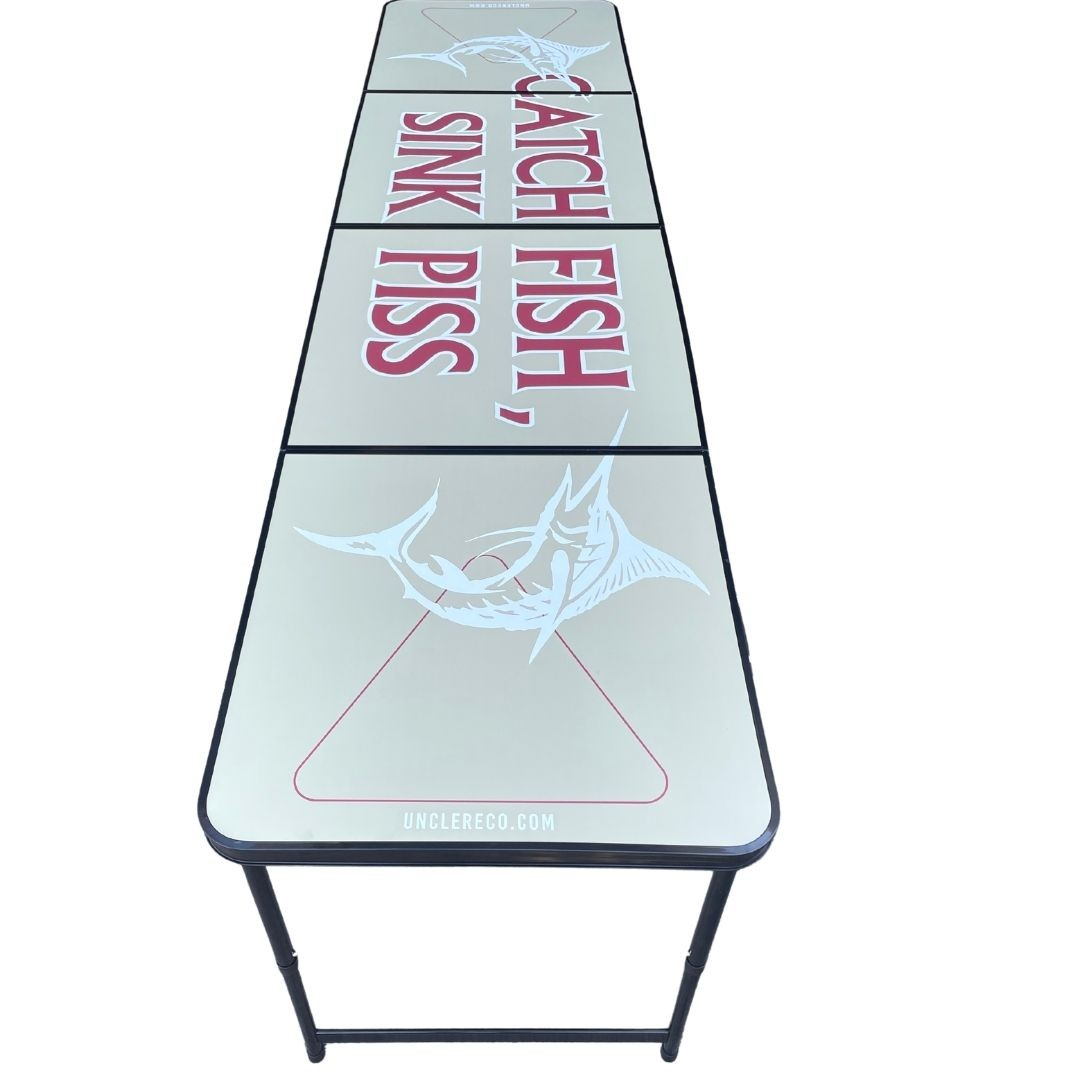 CATCH FISH SINK PISS BEER PONG TABLE