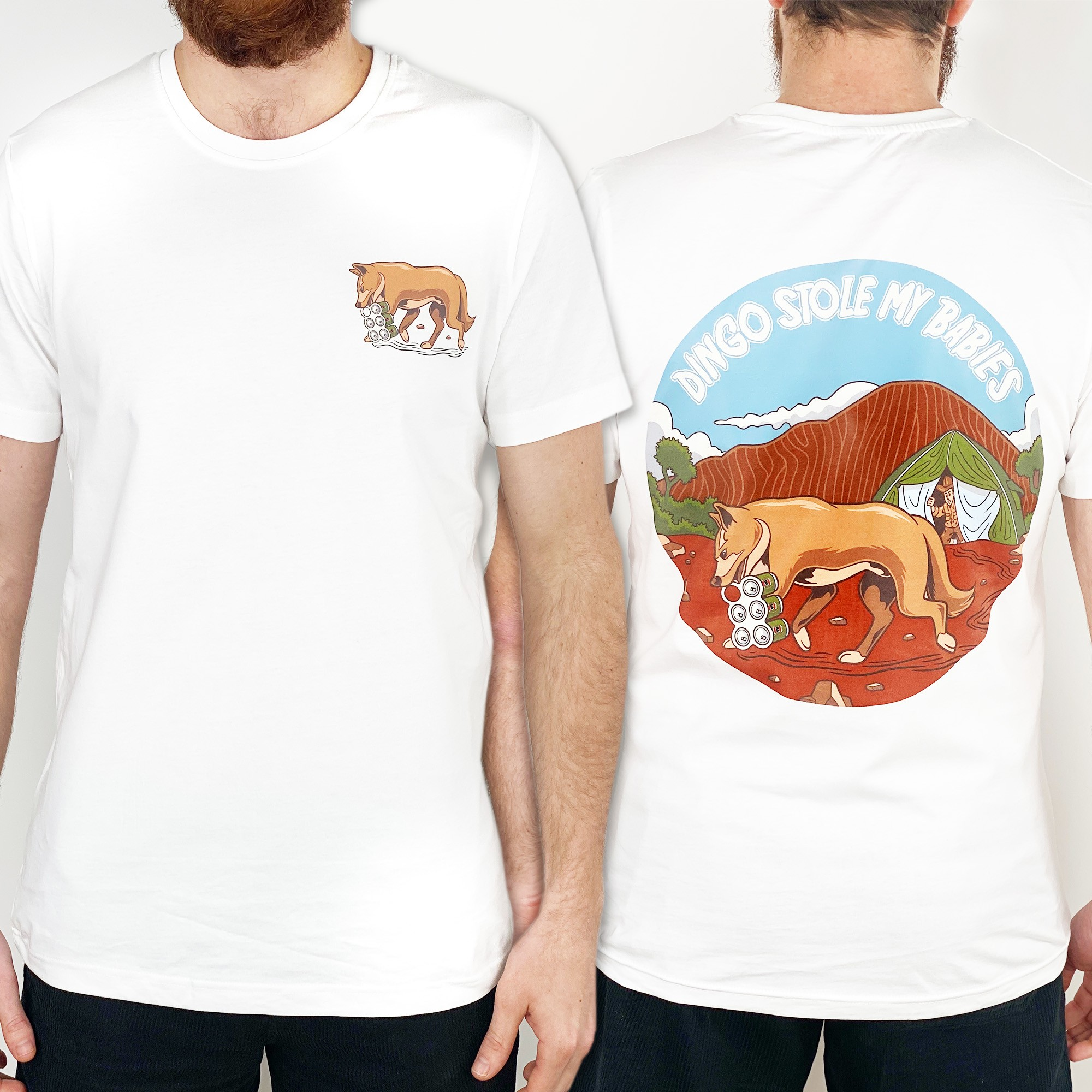 DINGO FRONT AND BACK WHITE TEE