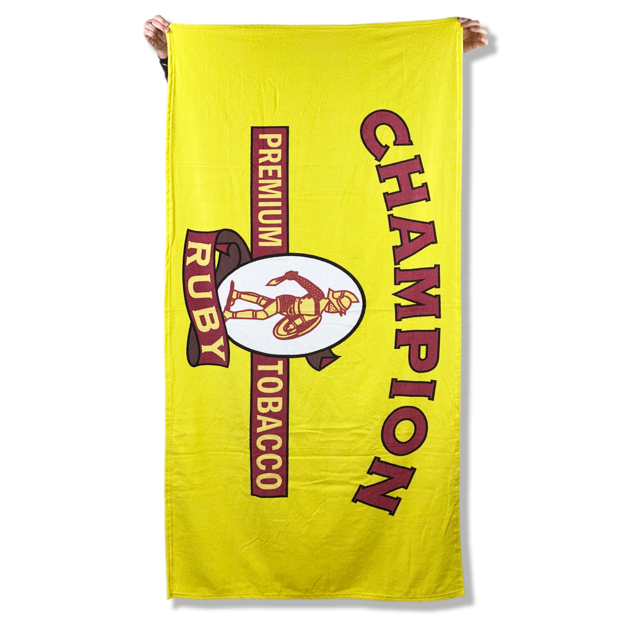 CHAMPION YELLOW BEACH TOWEL