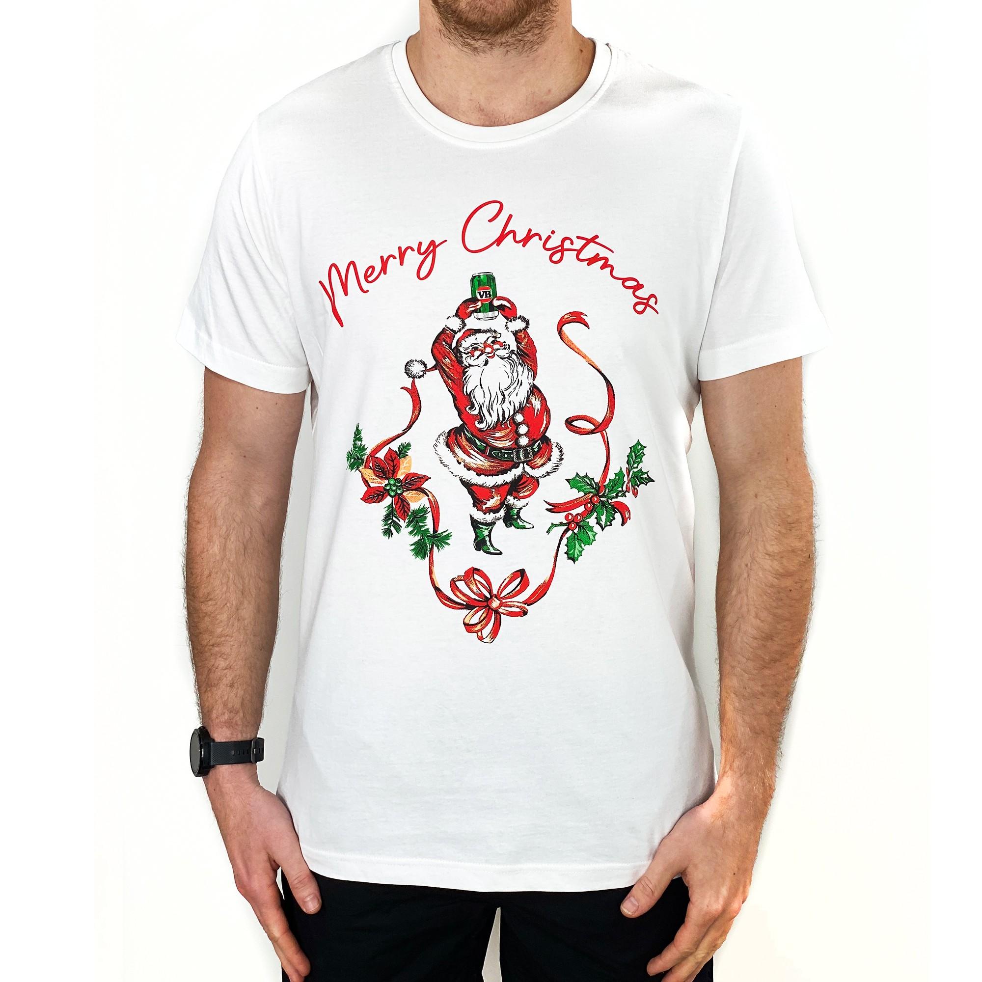 MERRY CHRISTMAS WHITE TEE