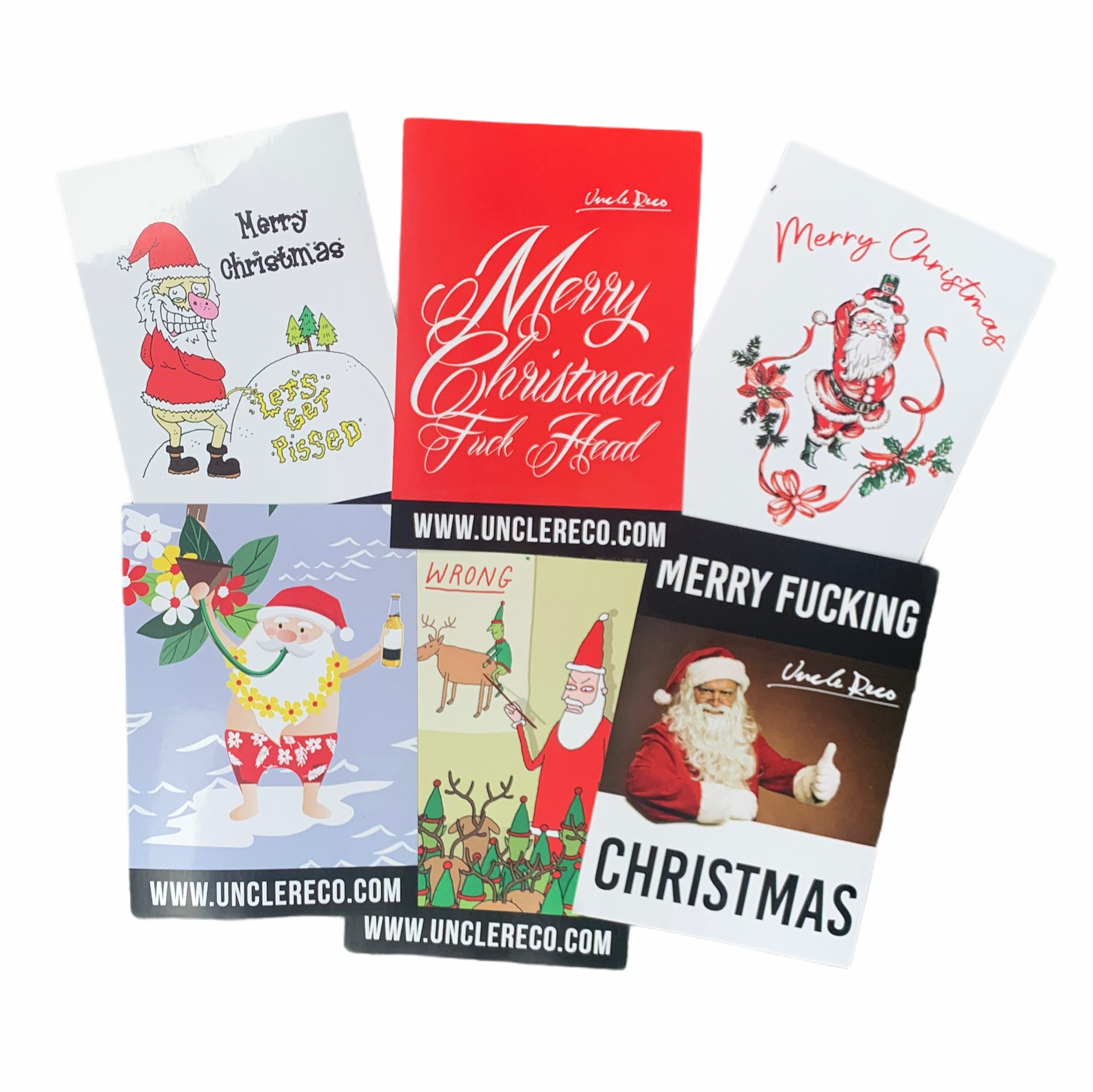 XMAS STICKERS 6 PACK