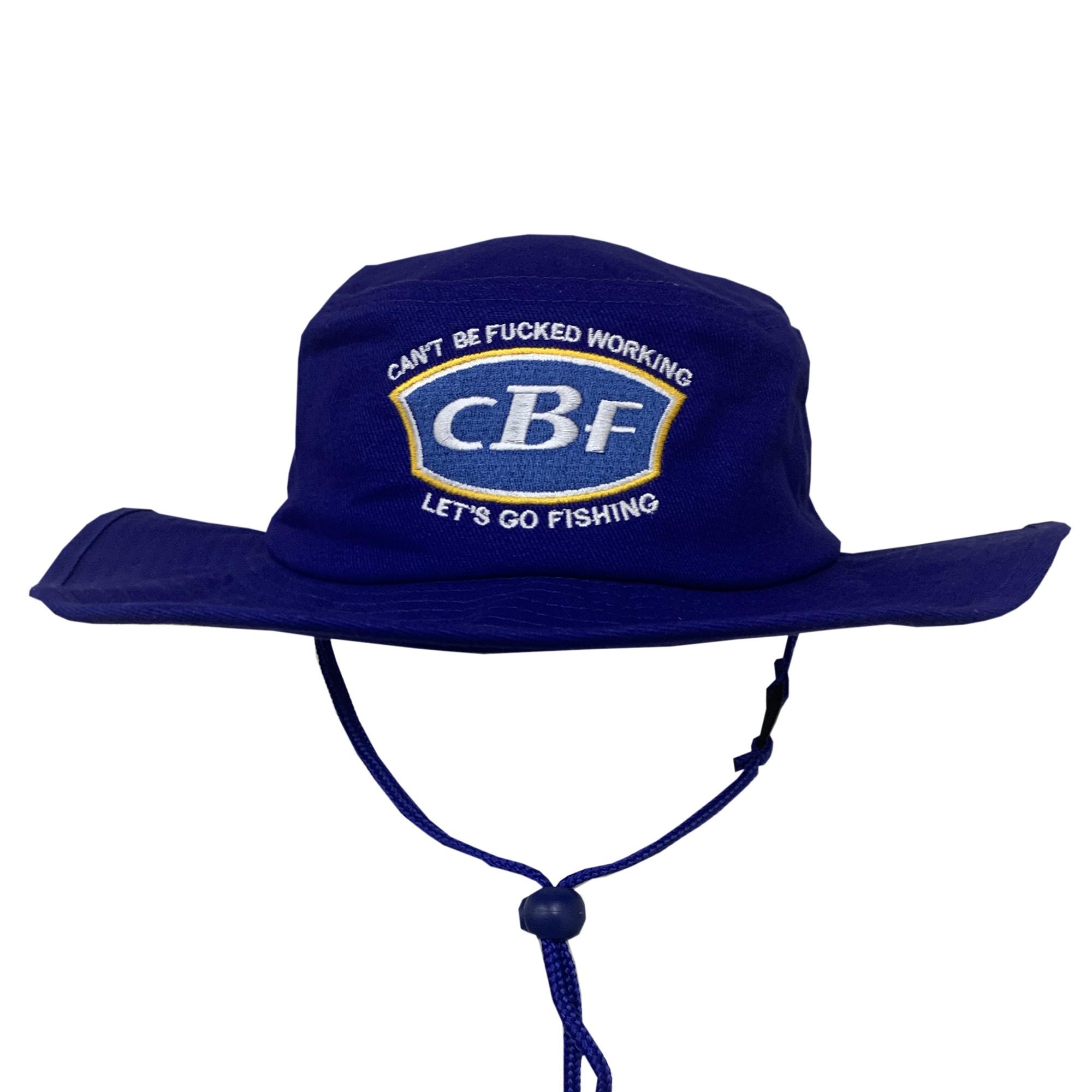CAN'T BE F'D PARODY BLUE WIDE BRIM HAT