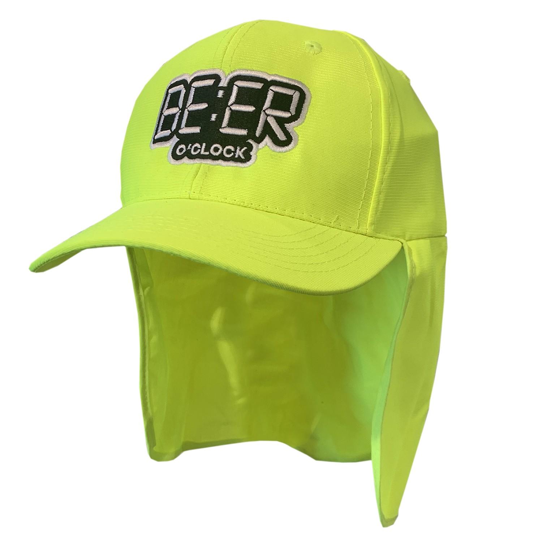 BEER O'CLOCK LEGIONNAIRES HAT HI VIS GREEN