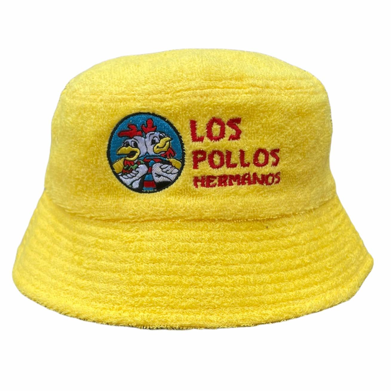 LOS POLLOS TERRY TOWEL BUCKET HAT YELLOW