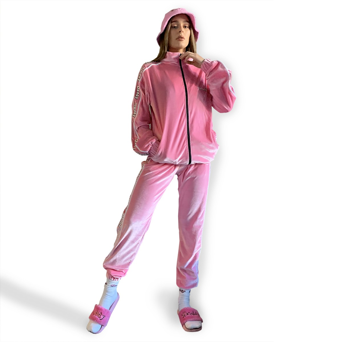 PINK DADDY VELOUR TRACKSUIT