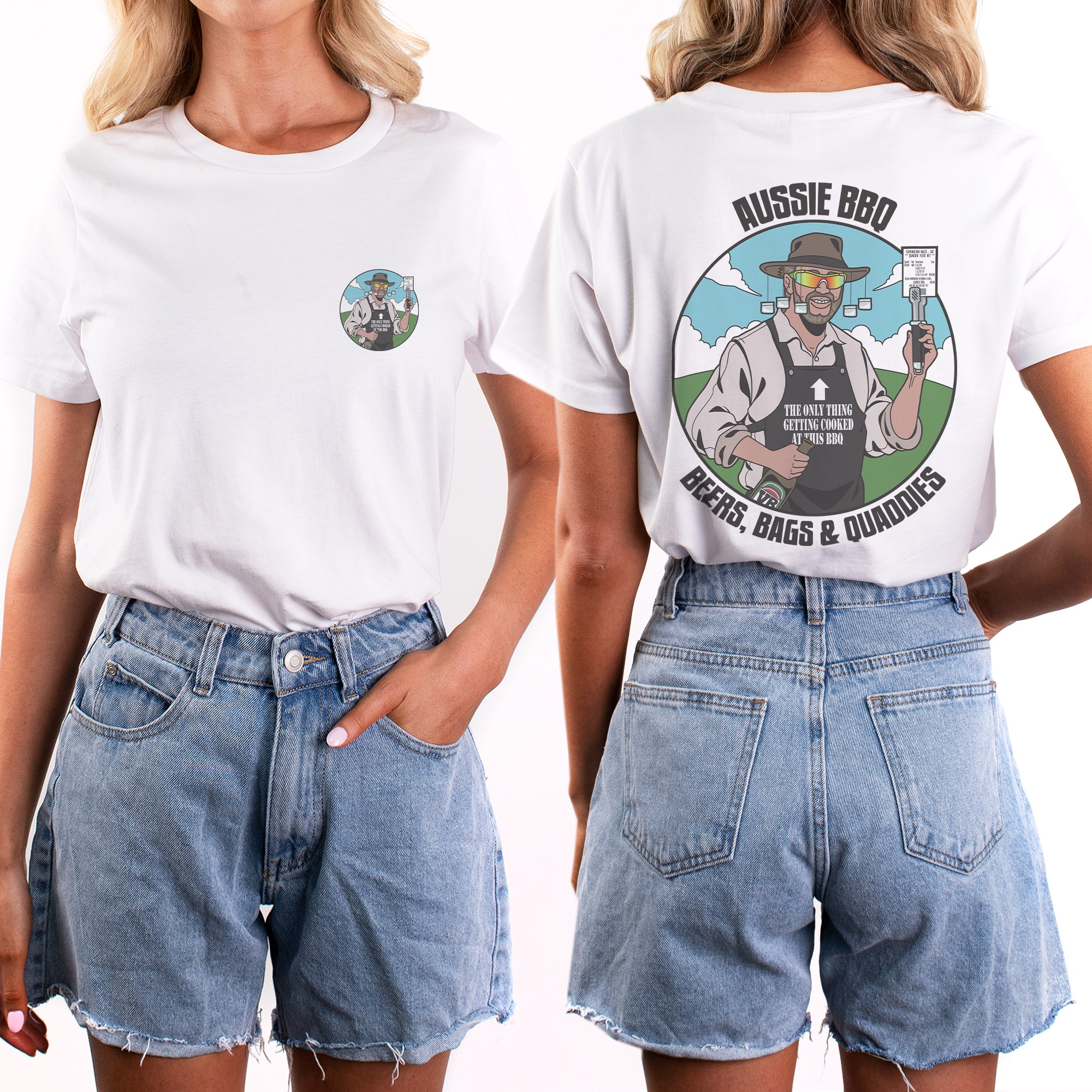 AUSSIE BBQ FRONT AND BACK TEE