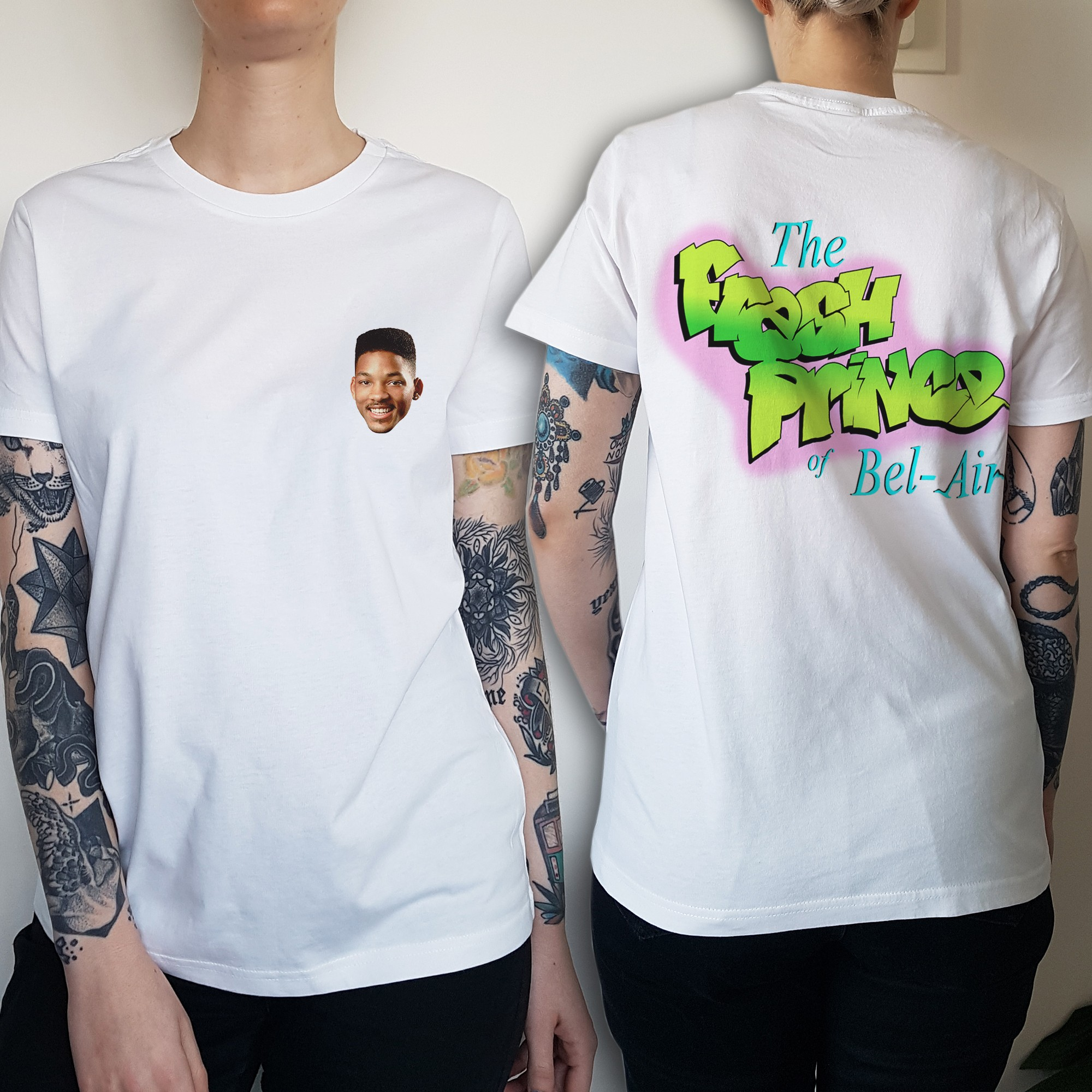 WOMENS BEL AIR FRONT AND BACK WHITE TEE
