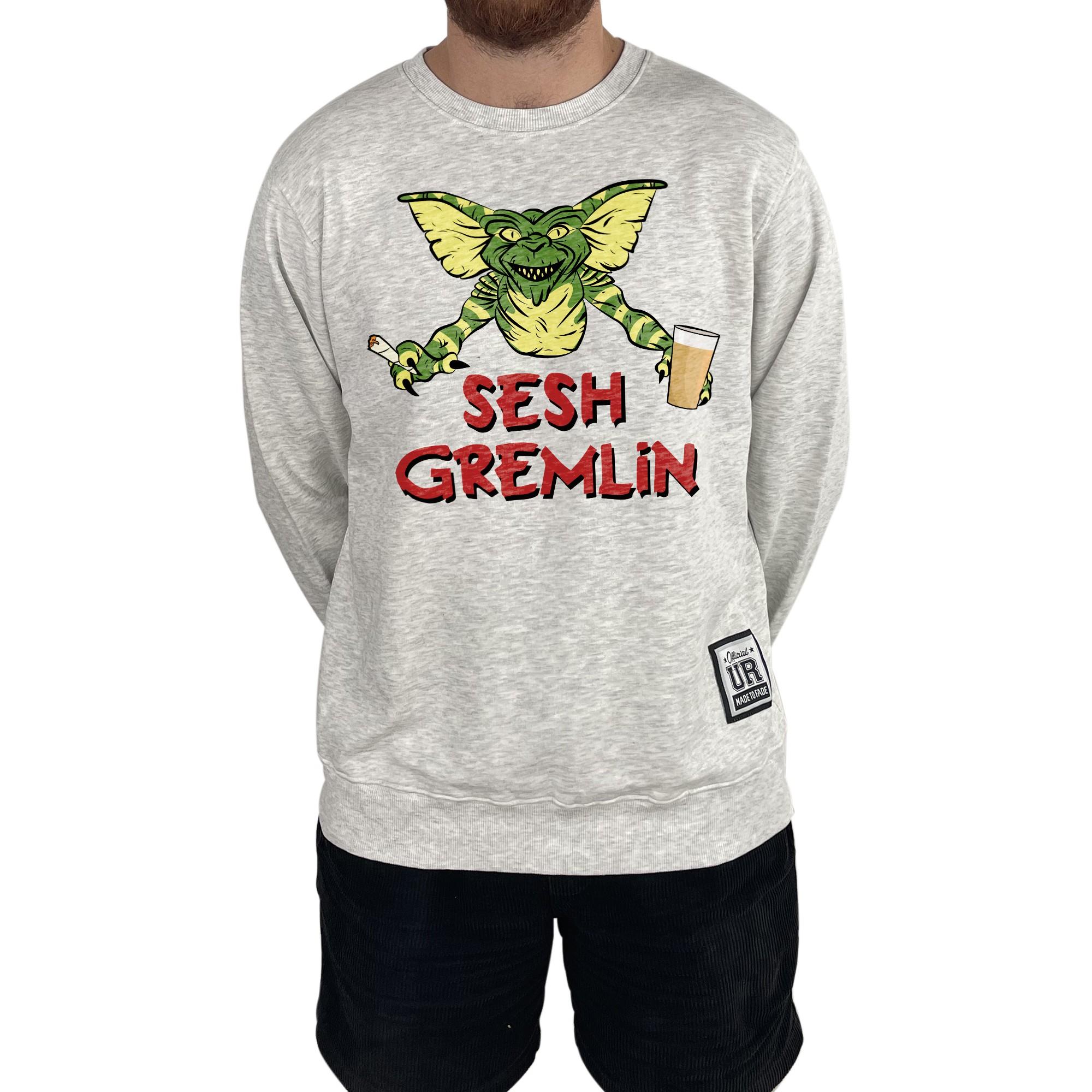 SESH GREMLIN WHITE MARLE CREW