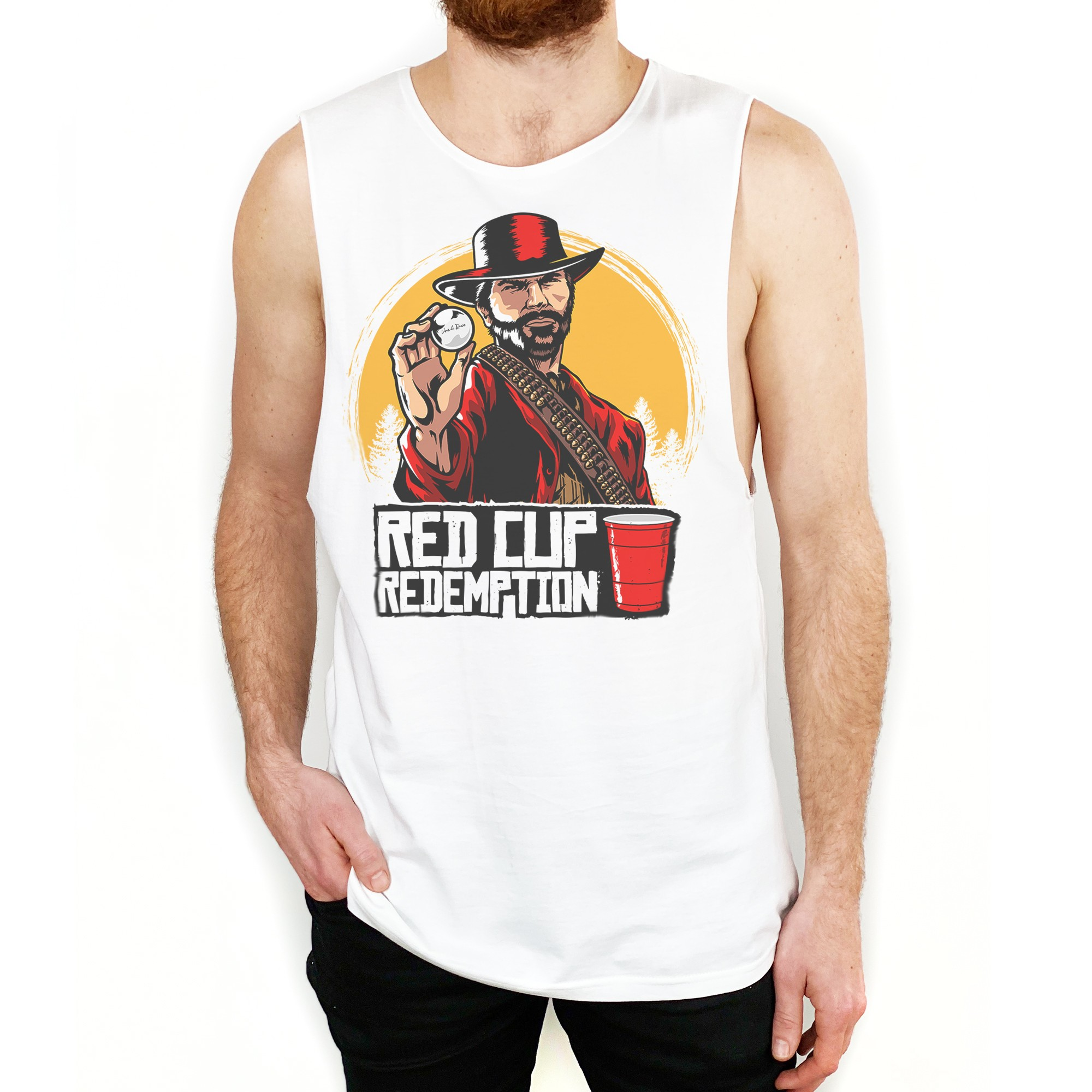 RED CUP REDEMPTION WHITE TANK