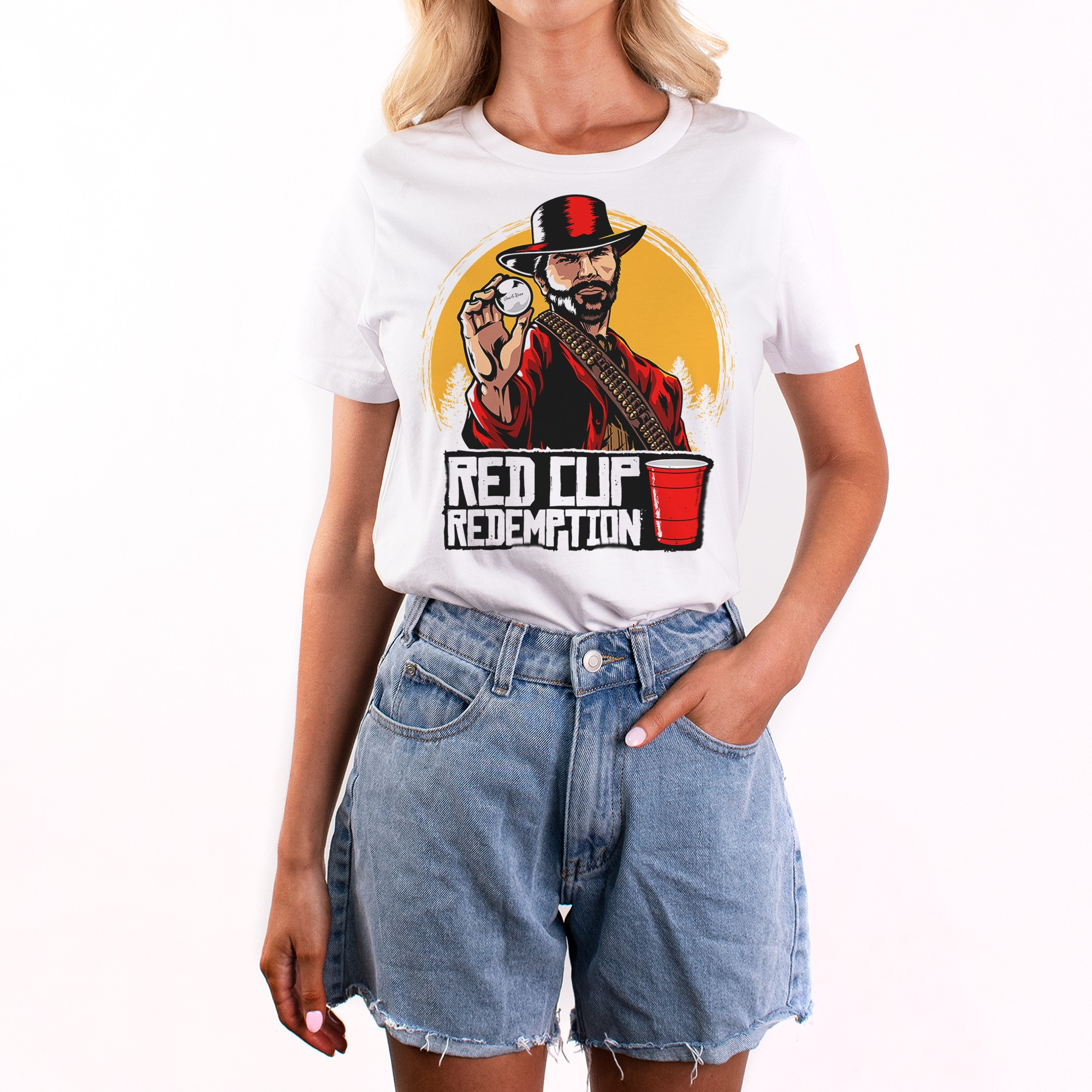 RED CUP REDEMPTION MENS WHITE TEE