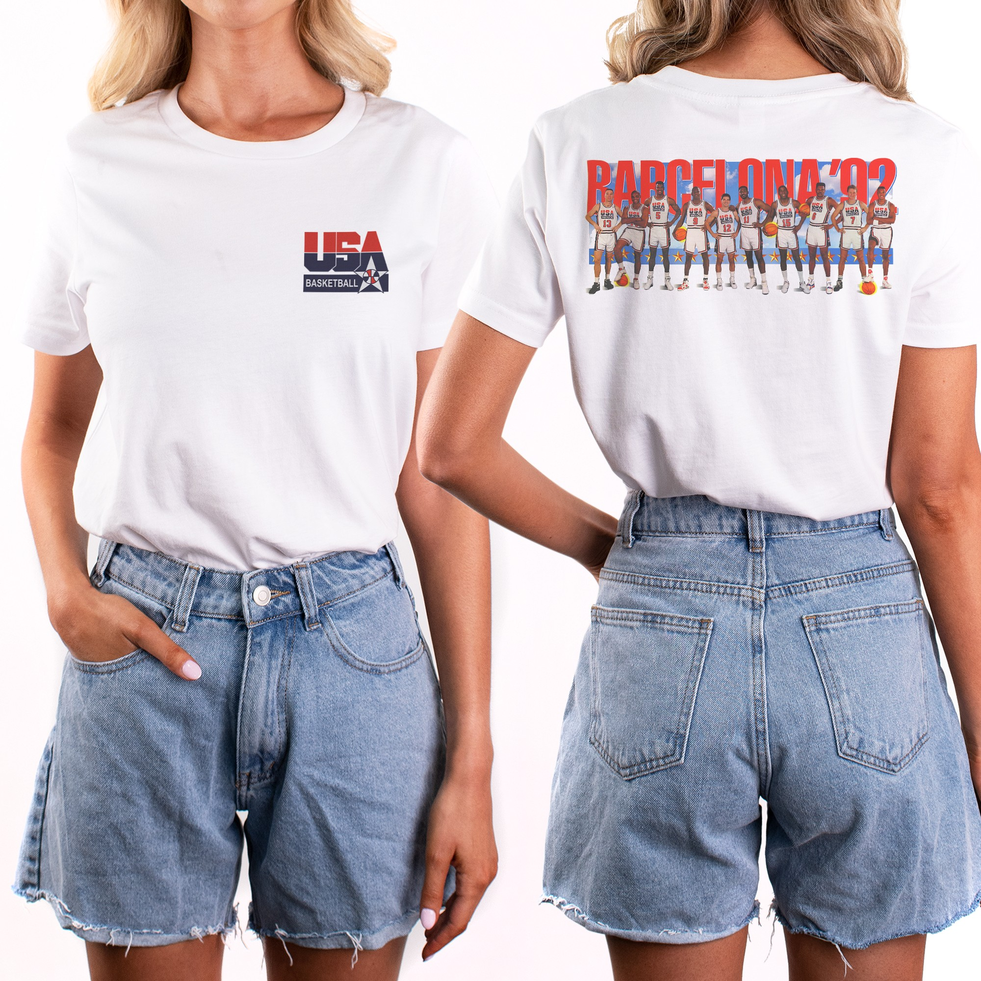 BARCELONA FRONT AND BACK WOMENS TEE