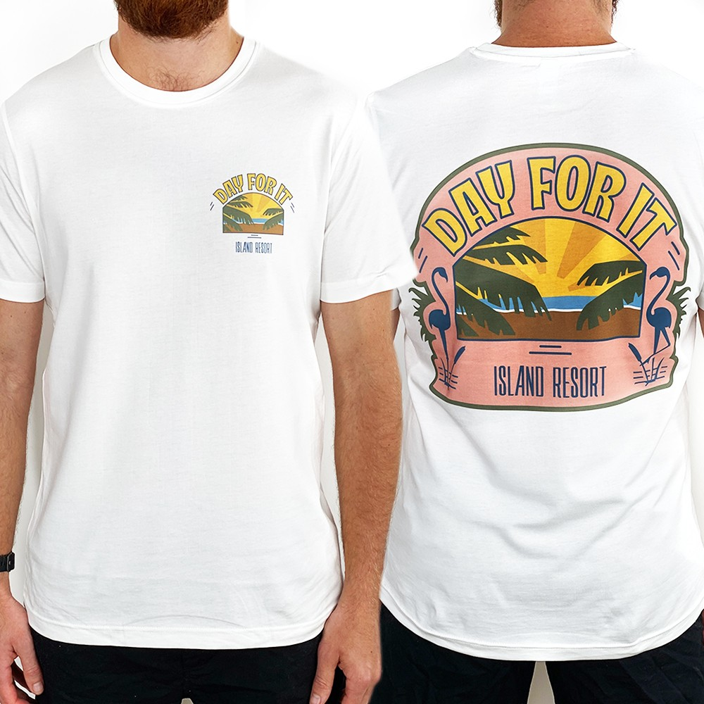 ISLAND RESORT DAY FOR IT FRONT AND BACK TEE