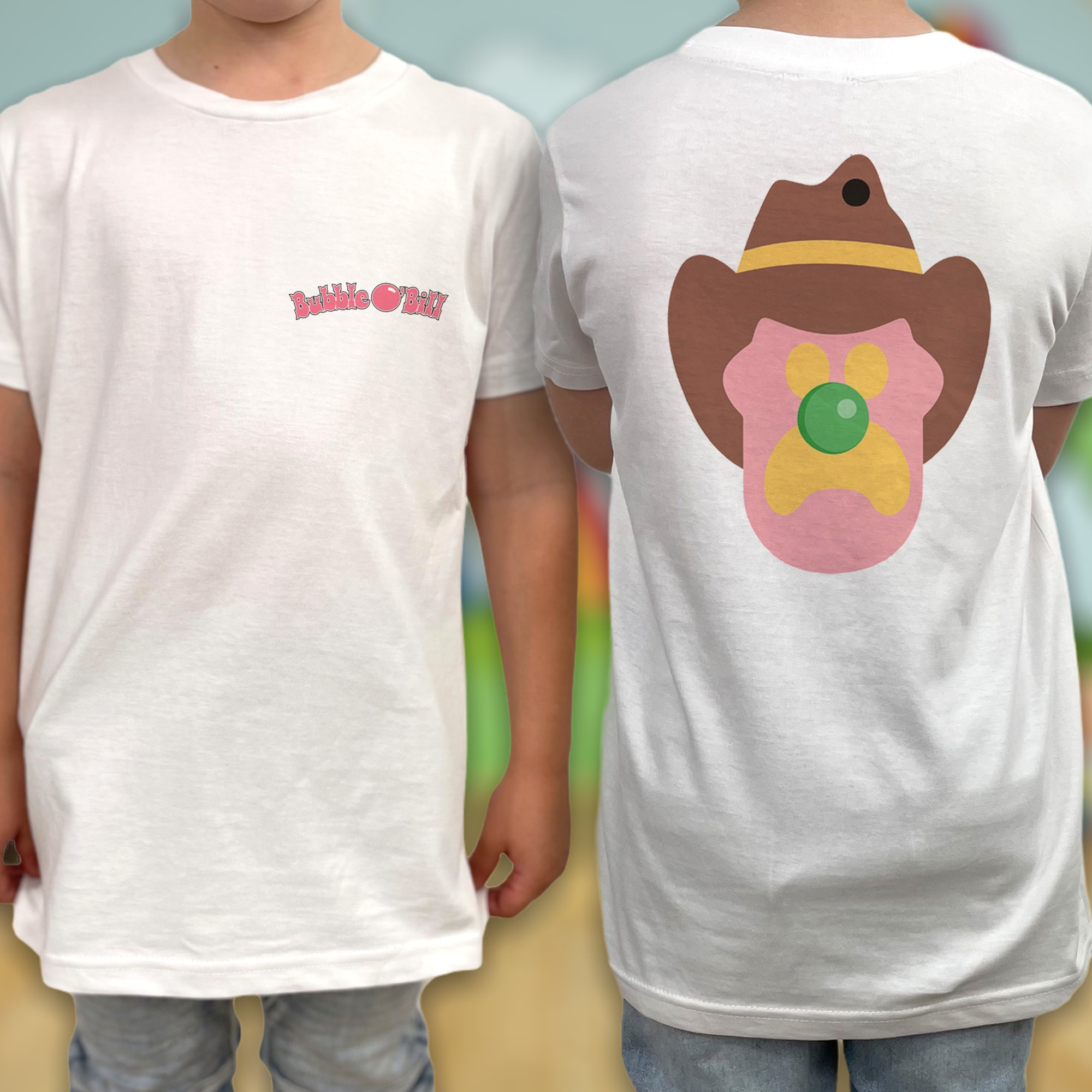 ICE CREAM FRONT AND BACK KIDS TEE