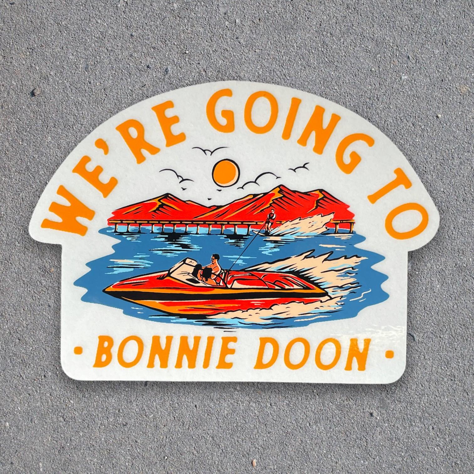 BONNIE DOON DIE CUT STICKER