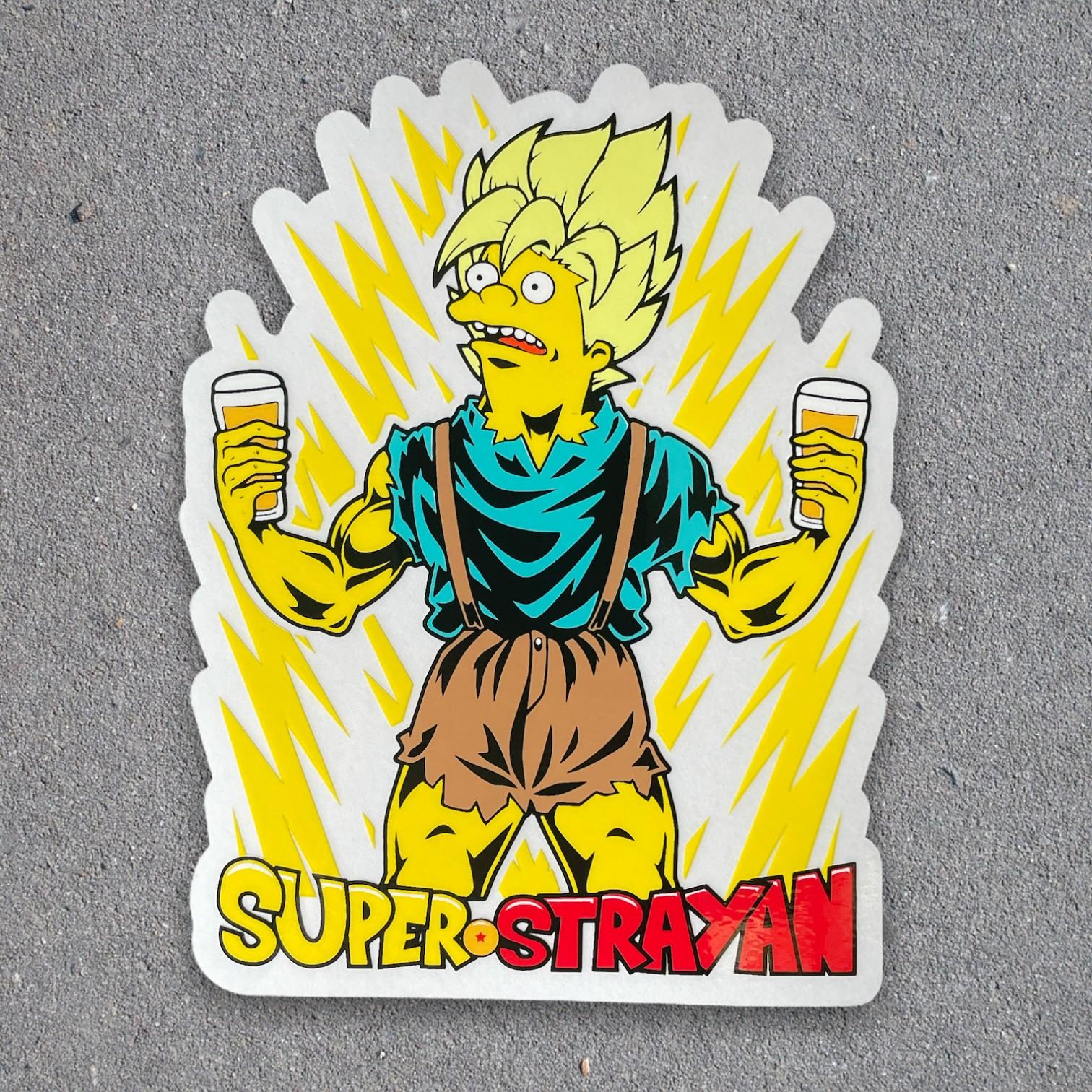 SUPER STRAYAN DIE CUT STICKER