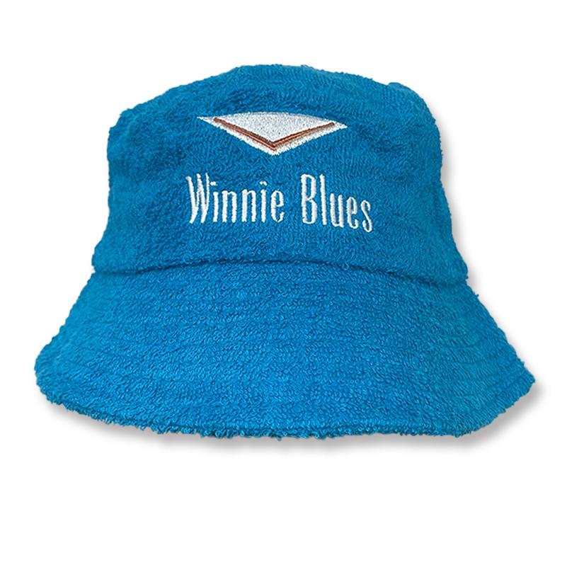 WINNIES BLUE TERRY TOWEL BUCKET HAT