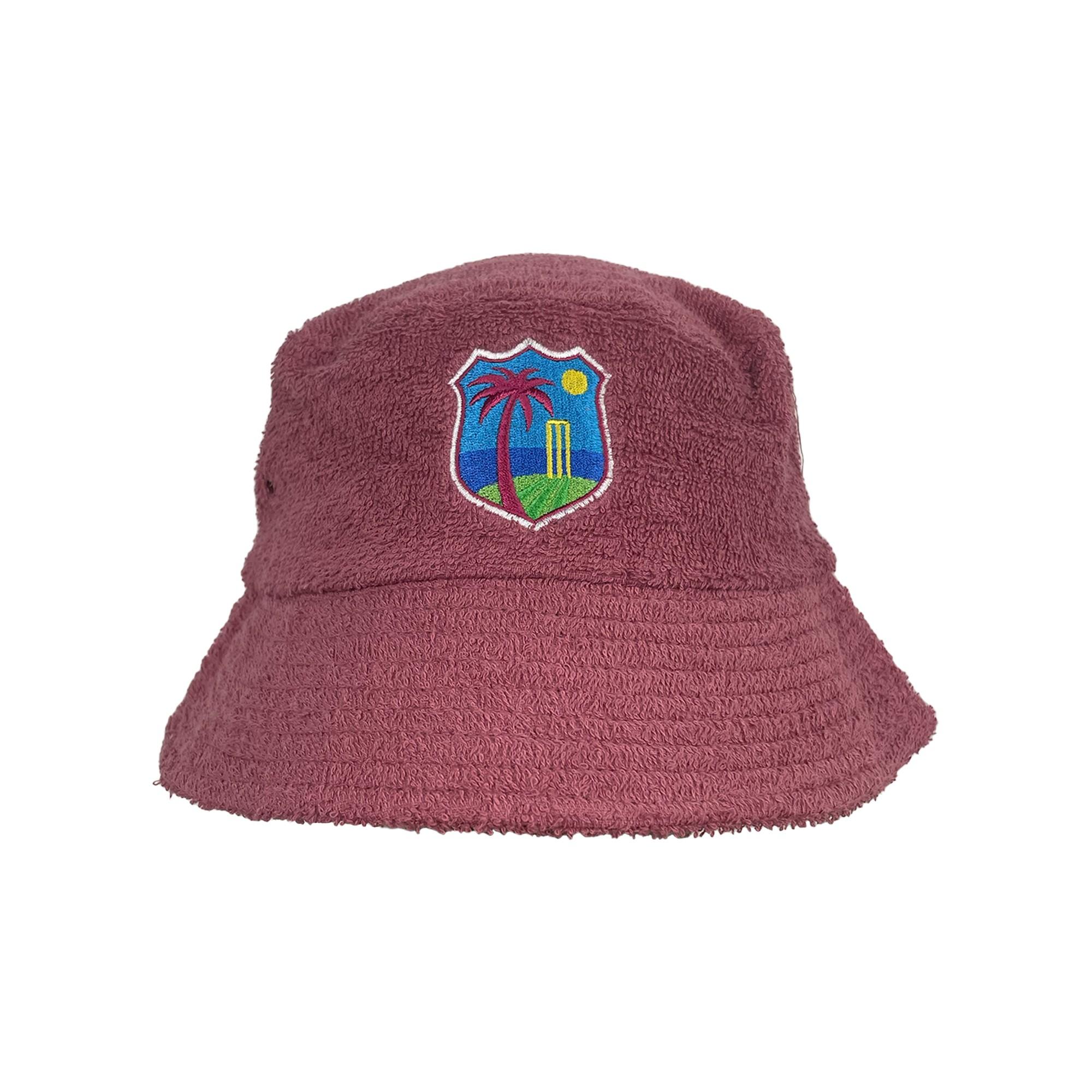 WEST MAROON TERRY TOWEL BUCKET HAT