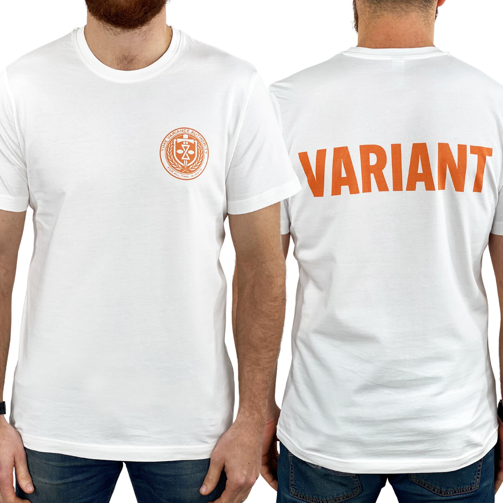 VARIANT FRONT AND BACK WHITE TEE