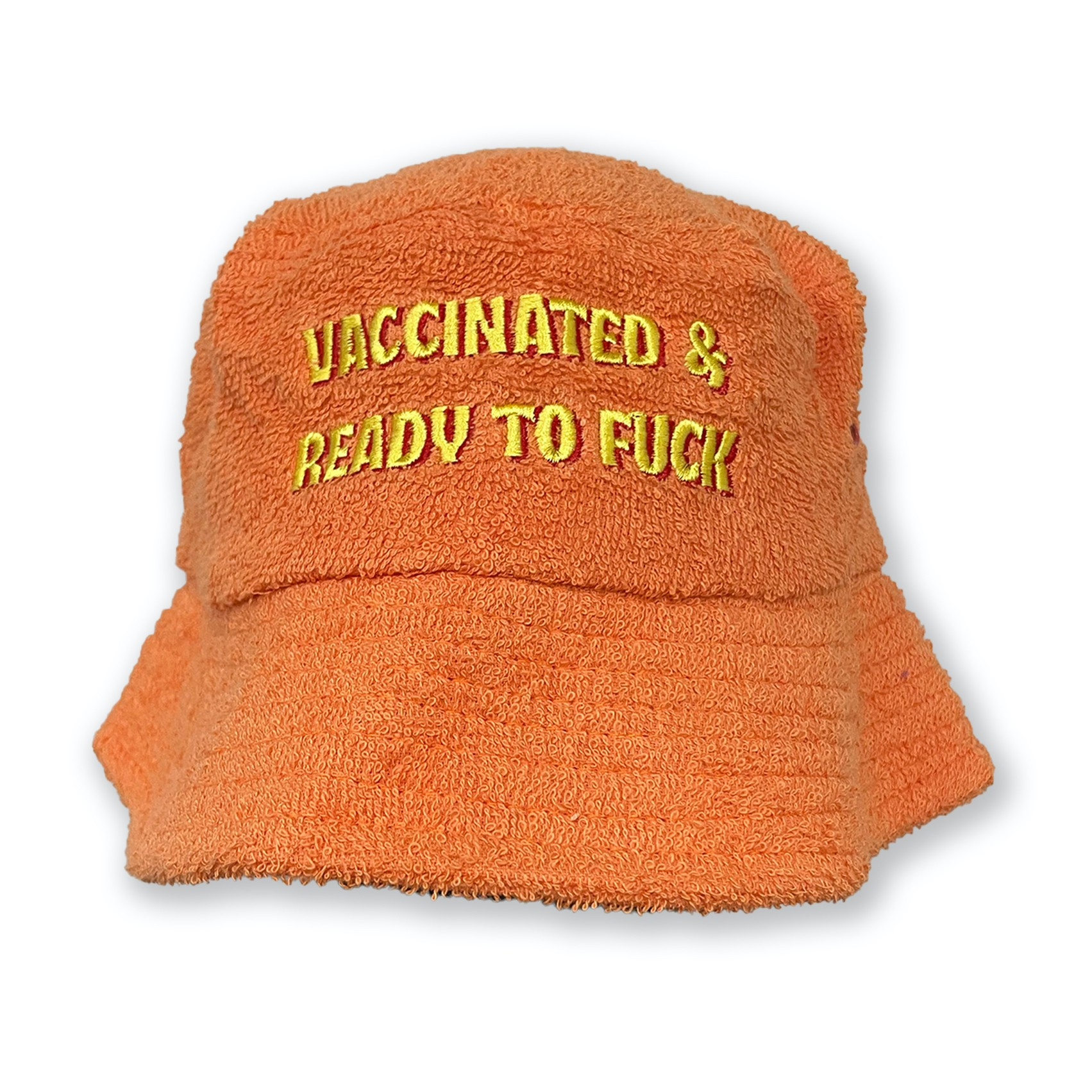 VACCINATED AND READY TERRY TOWEL BUCKET HAT