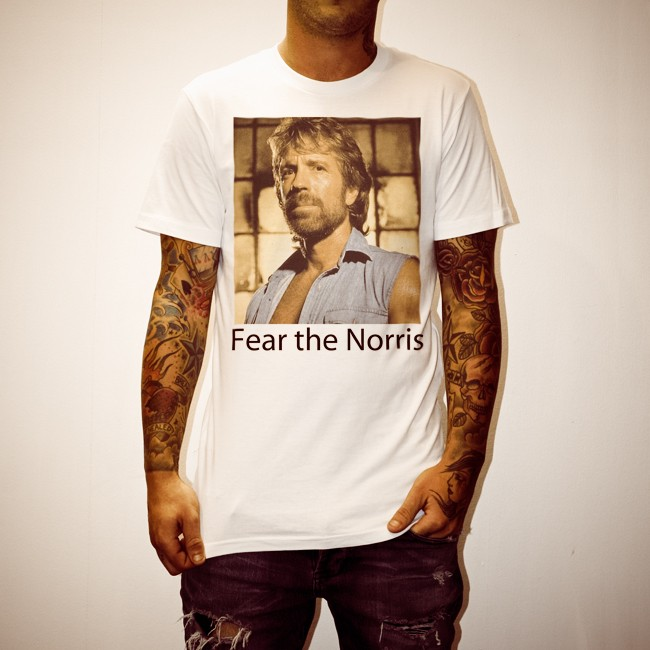 FEAR THE NORRIS WHITE TEE