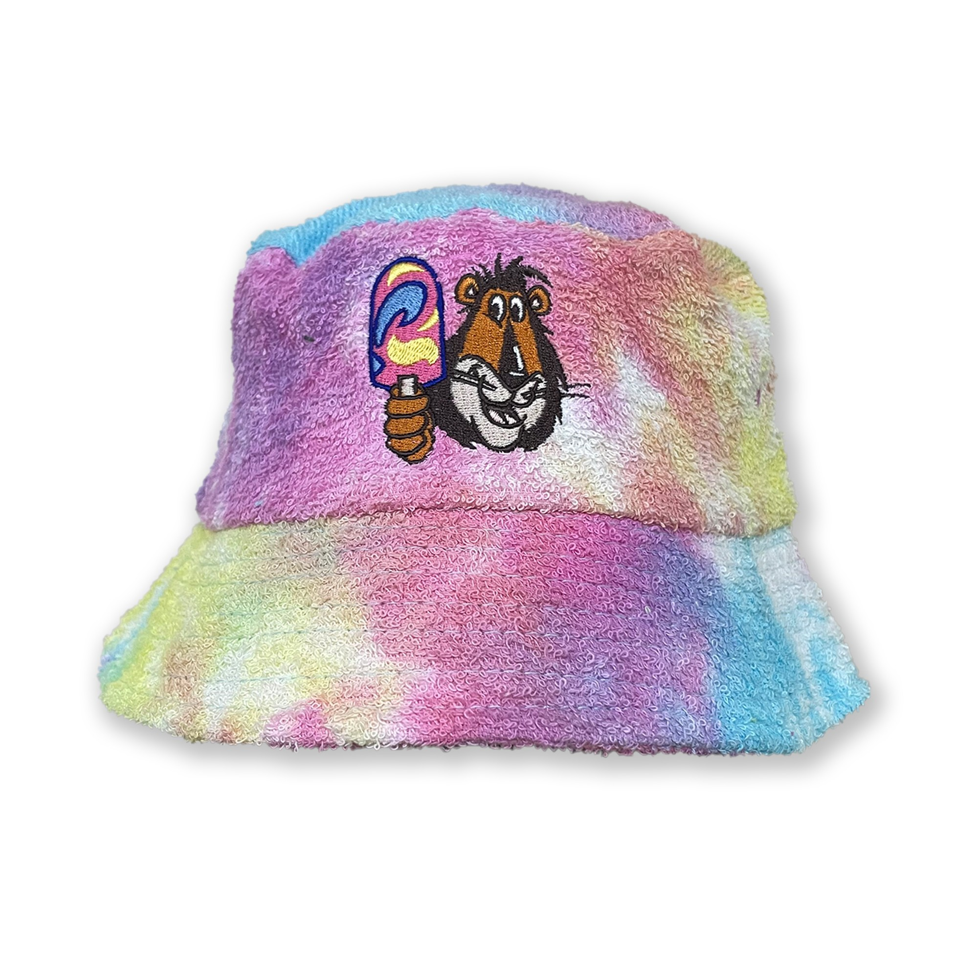 RAINBOW TIE DYE TERRY TOWEL BUCKET HAT