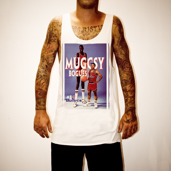 MUGGSY BOGUES WHITE SINGLET