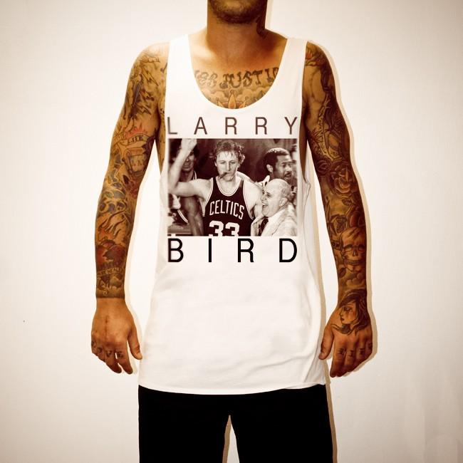 LARRY BIRD WHITE SINGLET
