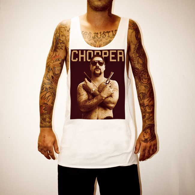CHOPPER WHITE SINGLET